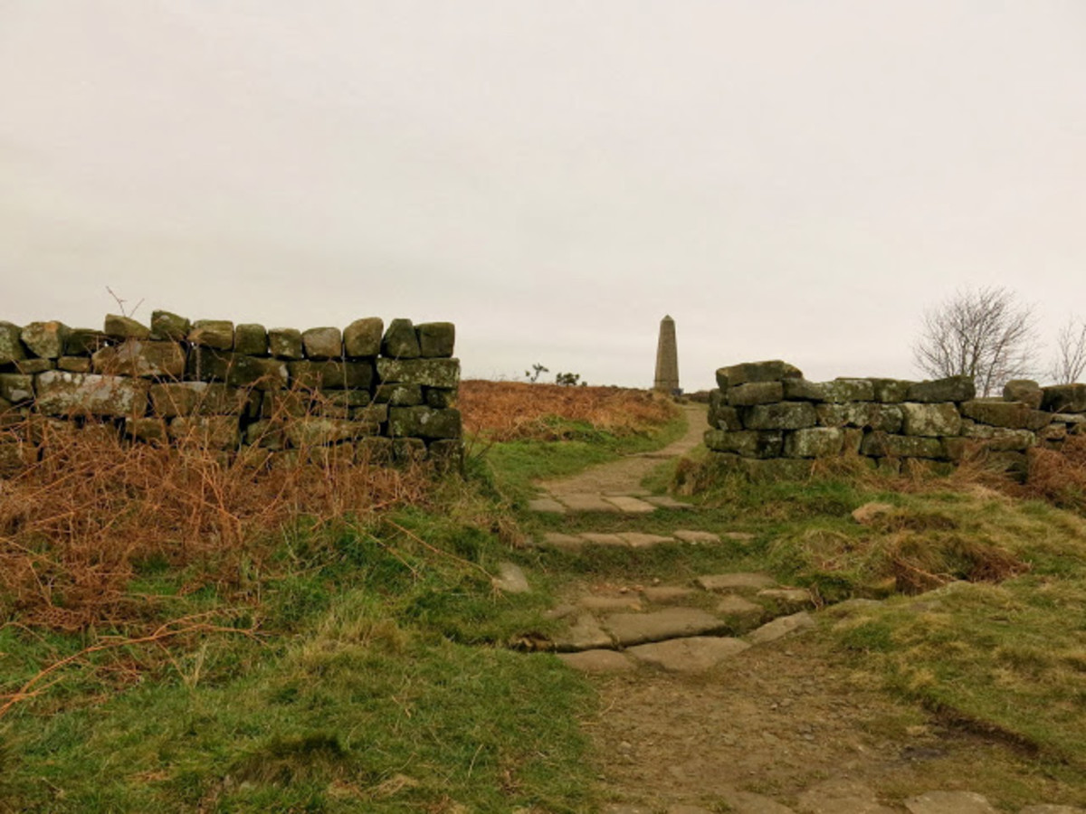 The approach to Captain Cook's monument on Easby Moor - overlooking Great Ayton and Aireyholme Farm