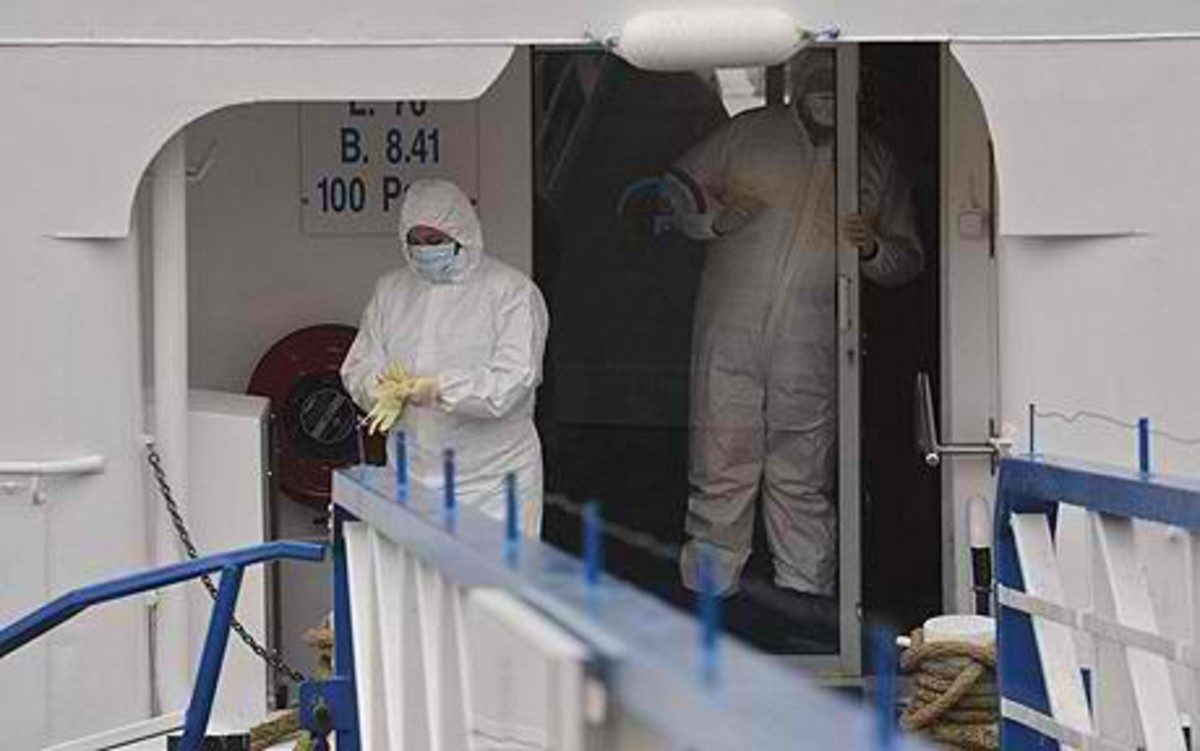 Norovirus outbreak in one of the cruise ships