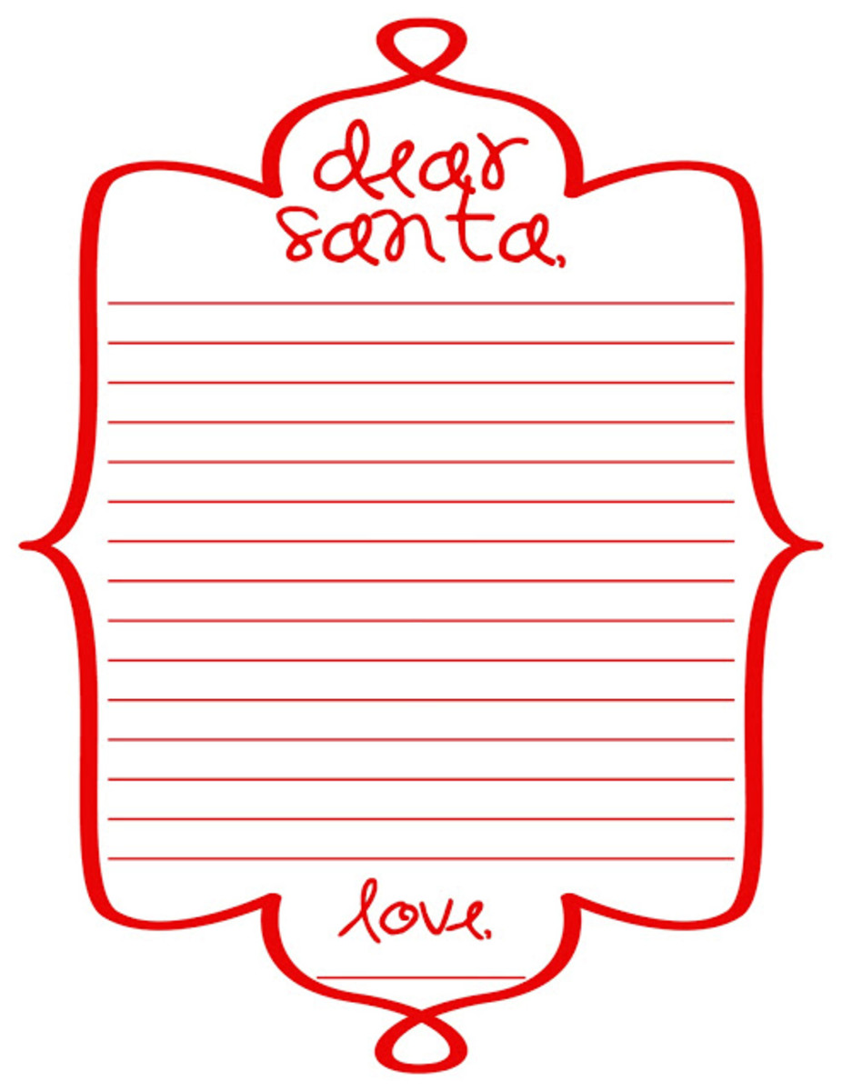 I Found This Red And White Santa Letter at Mommy By Day Crafter At Night.com.  I love this look for the holidays!