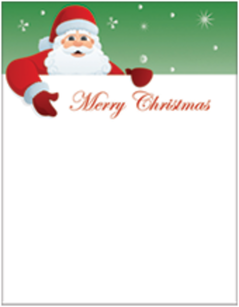 This Picture Shows A Free Printable Letter To Santa Template.