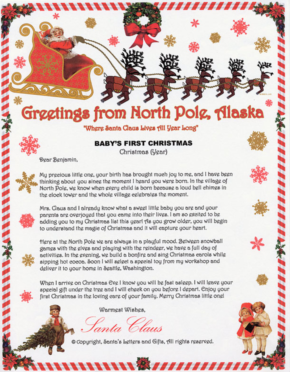 The Santa Letter For Baby's First Christmas!  I Found This Unusal Santa Letter On Santa Letters And Gifts.