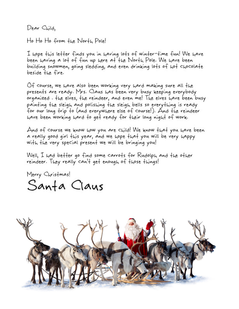 Free Printable Santa Letters   HubPages