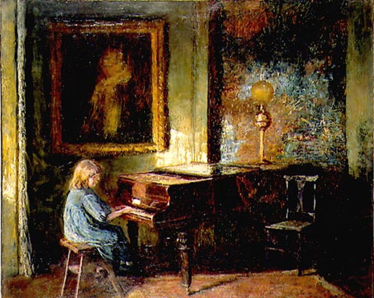 """Interior"" (1911) by Frederick McCubbin"
