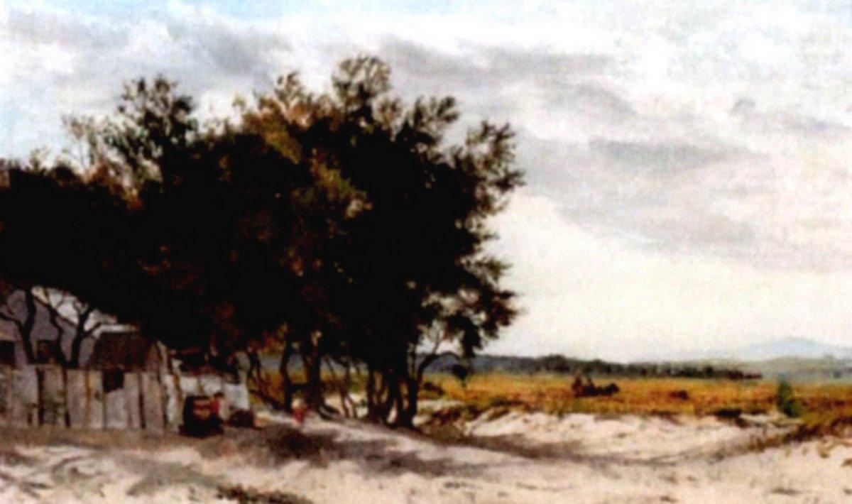 """""""View Near Fisherman's Bend"""" (1880)"""