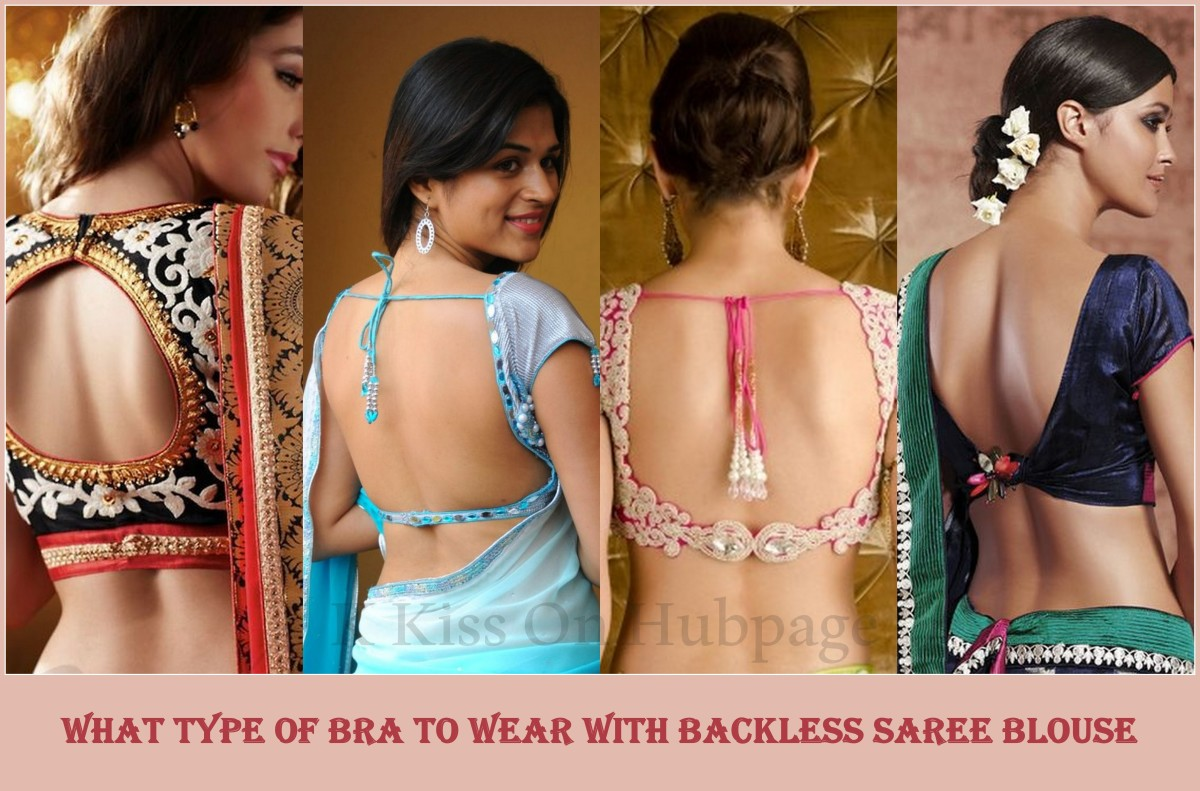What type of bra is best for backless saree blouse or with deep neckline