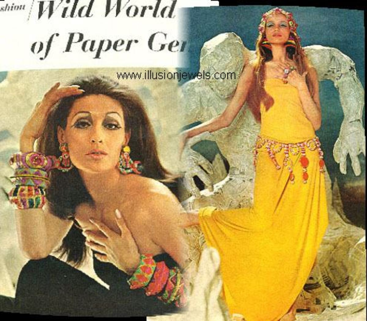 Papier-mache Jewelry from 1966