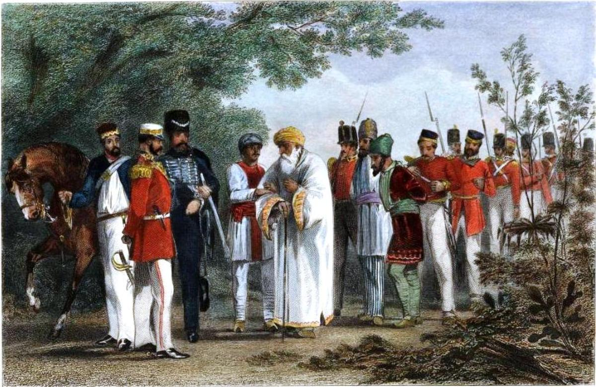 Painting of the capture of BahadurShah