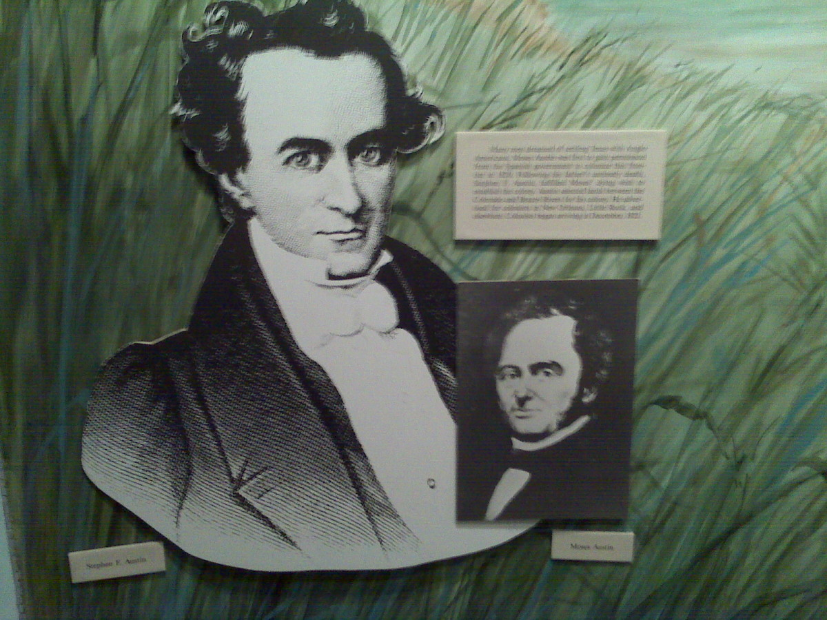 Stephen and Moses Austin, father and son, leaders of The Old 300 colonists in Texas.