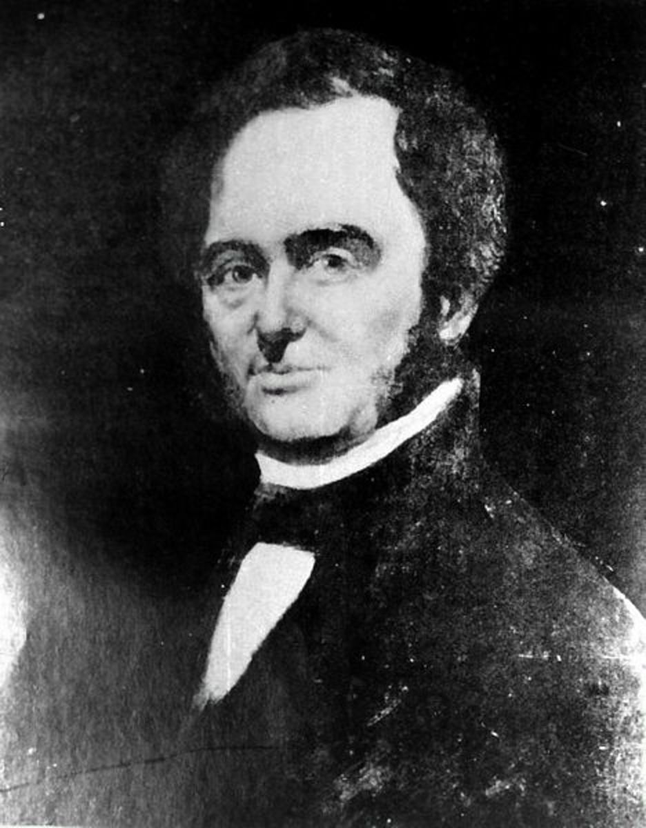 Portrait of Moses Austin made before his death in 1821. Image courtesy the Brazoria County Historical Museum.