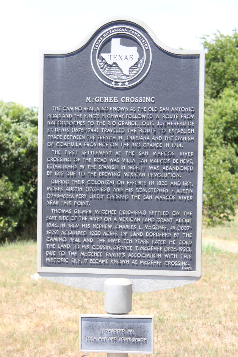 Nicolas Henderson from Coppell, Texas. The Camino Real, also known as the Old San Antonio Road and the King's Highway, followed a route from Nacogdoches to the Rio Grande. Louis Juchereau de St. Denis (1676-1744) traveled the route to establish trade