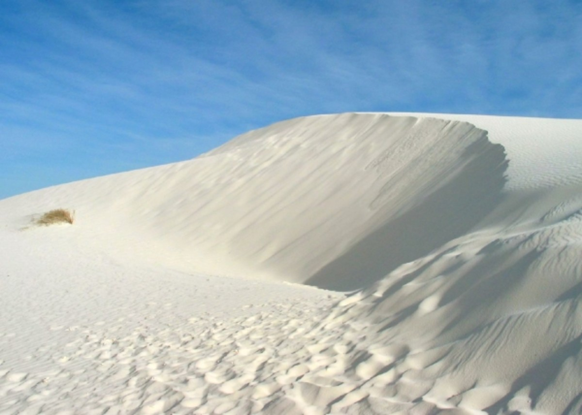 White Gypsum Dunes of the White Sand National Monument in New Mexico