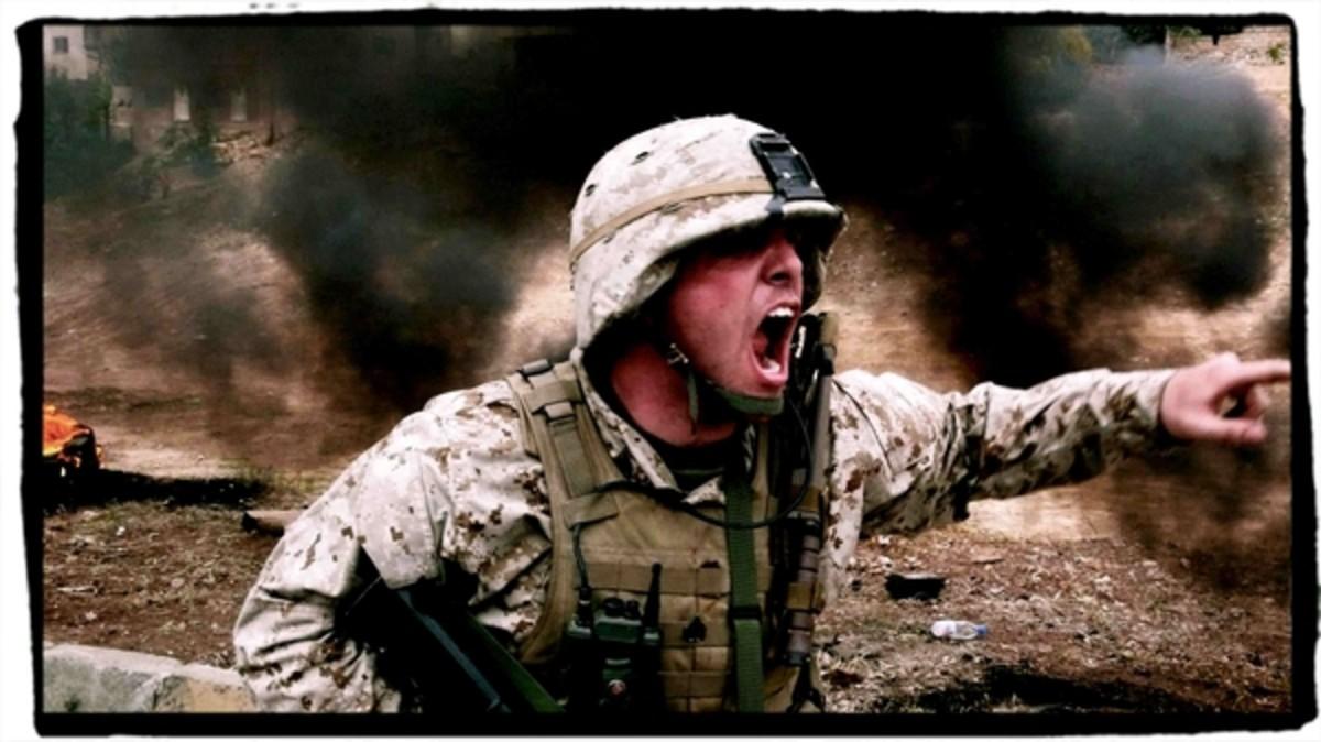 U.S. Marine leading the fight