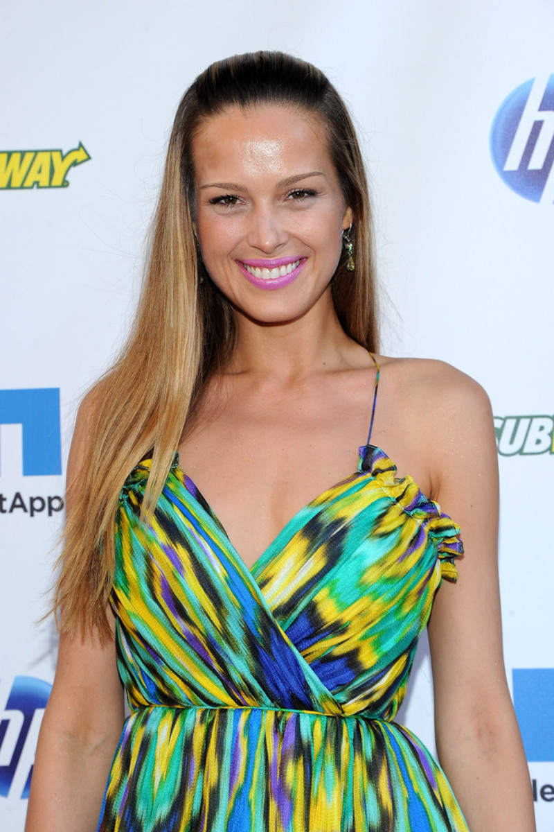 Petra Nemcova attends the NY Giants Justin Tucks 3rd Celebrity Billiards Tournament in New York City.