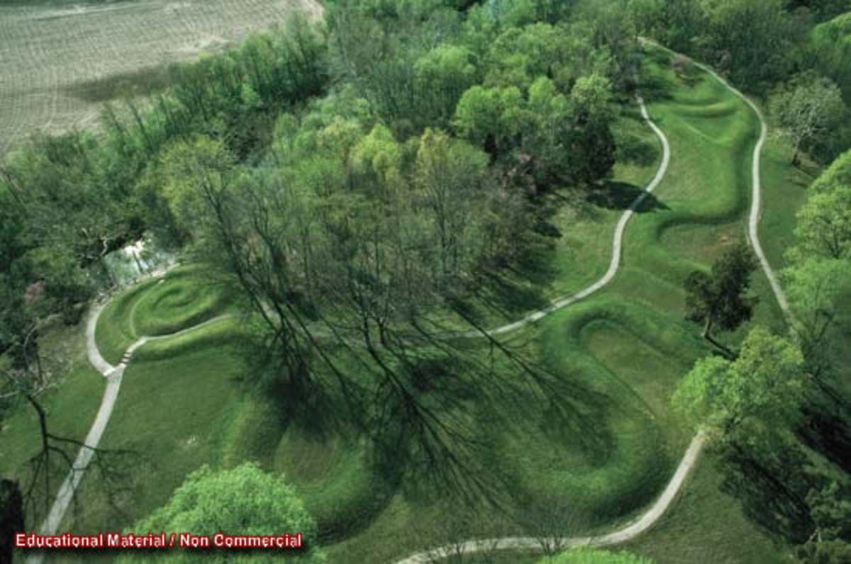 Many of the effigy mounds resemble animals and are built on the Ley lines of the Earth.