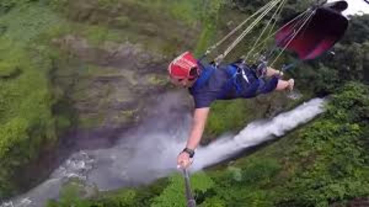 Seven waterfalls zipline at Lake Sebu