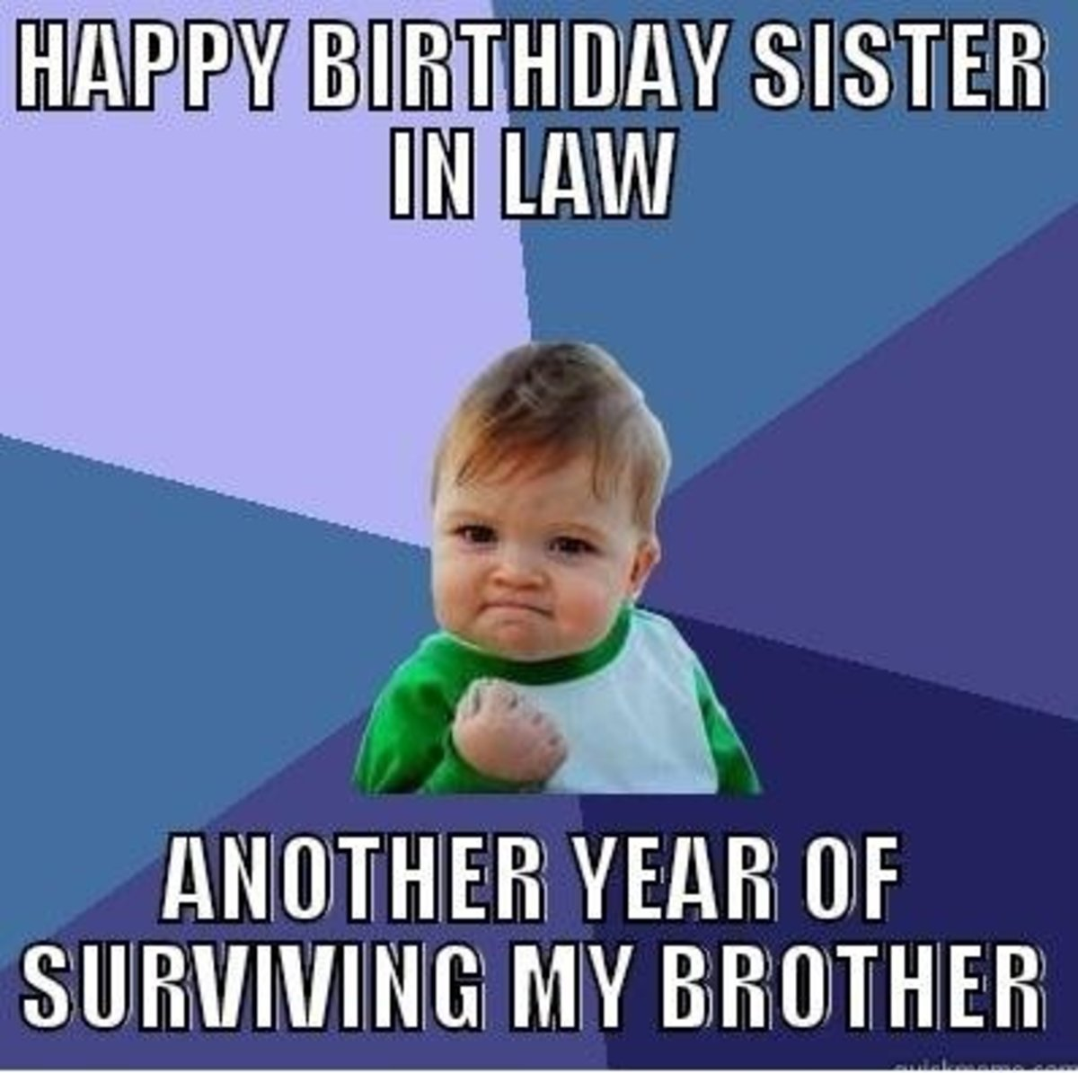 Funny Meme Sister : Happy birthday sister in law quotes and meme hubpages