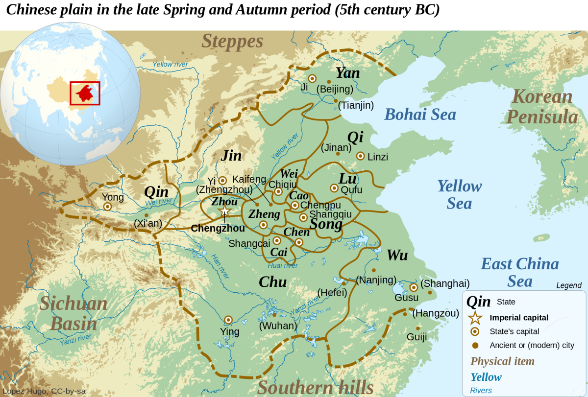 China as it appeared during the time of Sun Tzu