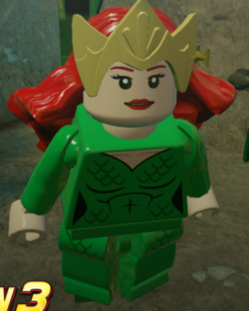 Here's A LEGO Mera From The  LEGO Batman 3: Beyond Gotham Set