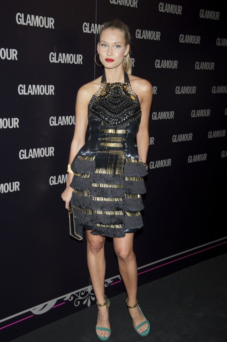 Spanish fashion model Vanessa Lorenzo is present at the Glamour Beauty Awards in 2011.