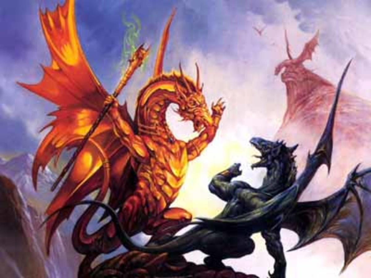 Dragons in battle