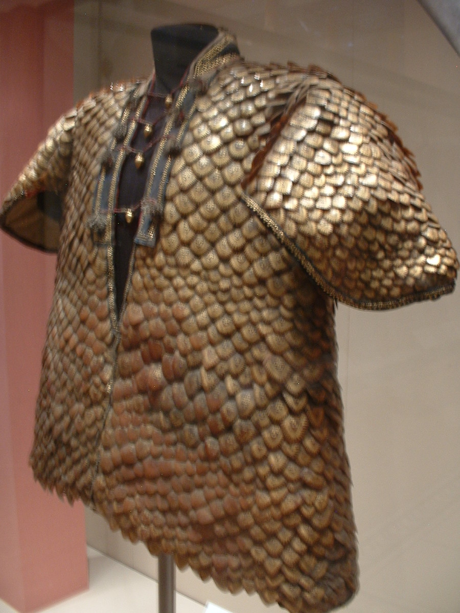 Shirt made out of pangolin scales.