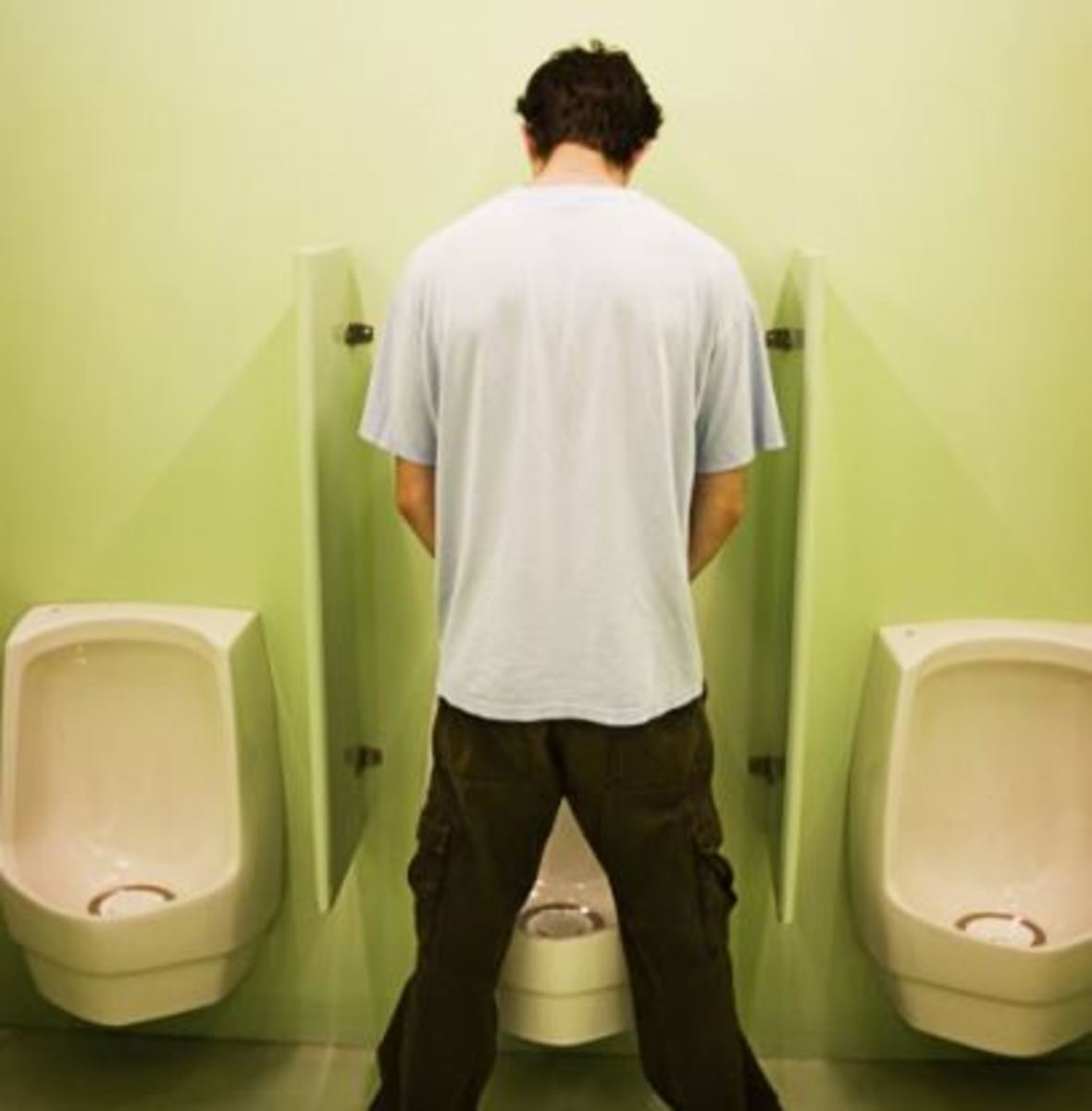 Why your urine splits into two streams during urination.