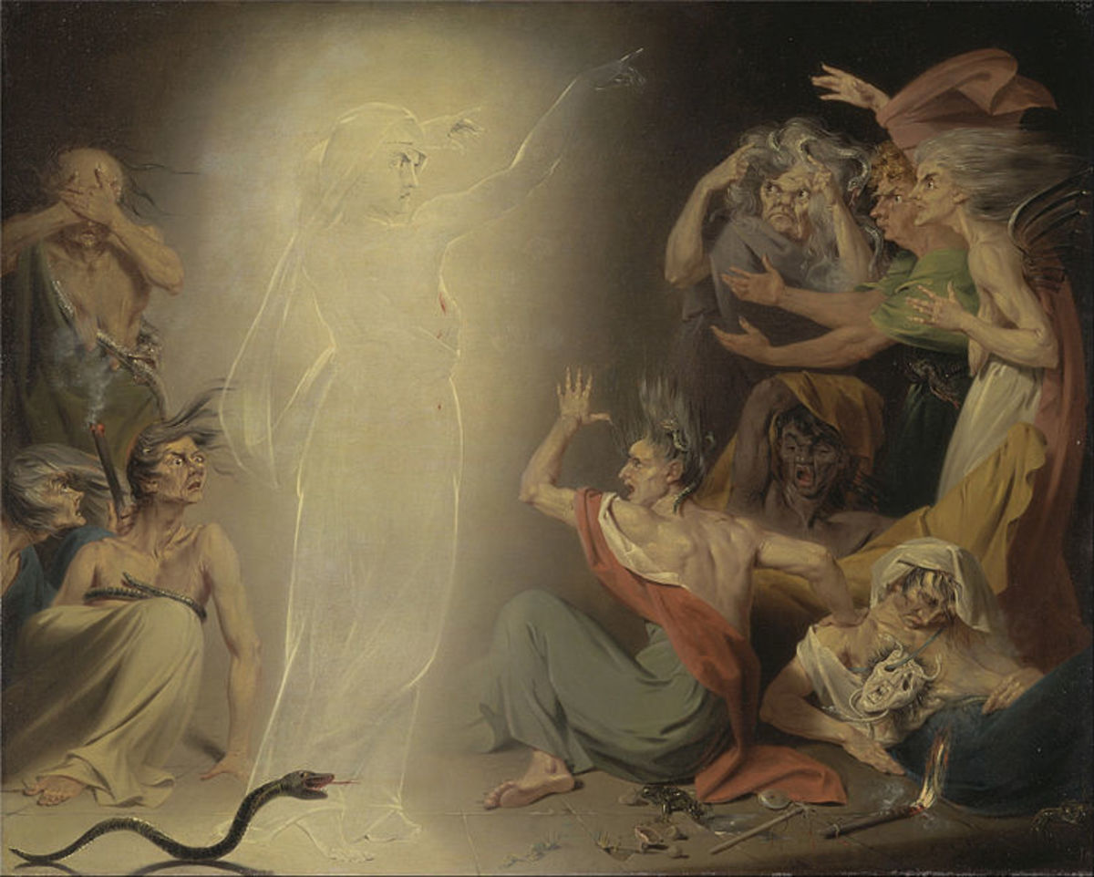 The Ghost of Clytemnestra Awakening the Furies - John Downman (1750–1824)  - PD-art-100