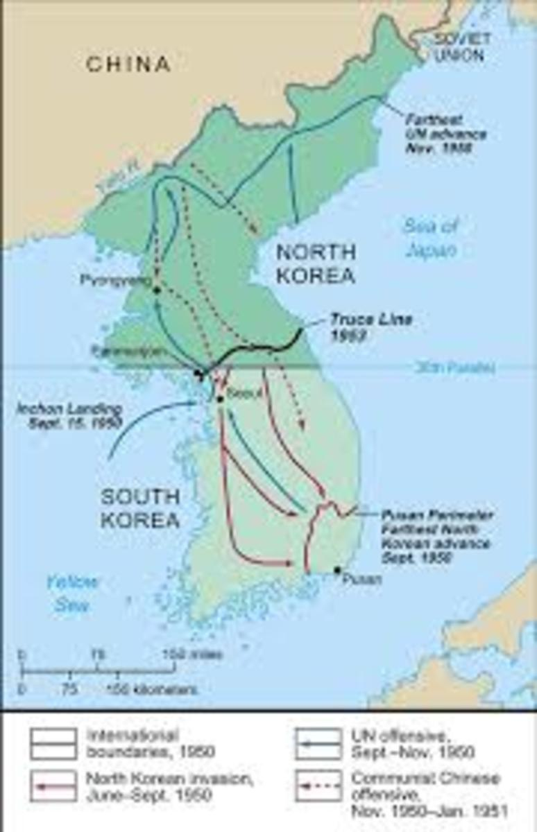 By August, only the Pusan perimeter remained in South Korean hands.