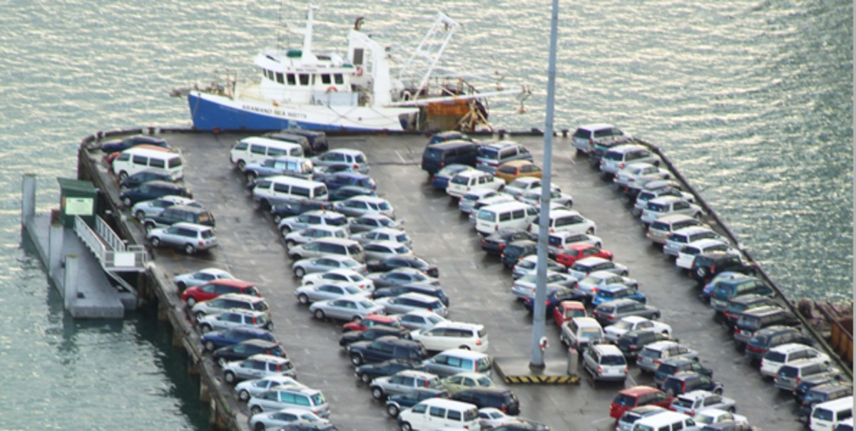 Vehicles being shipped for export