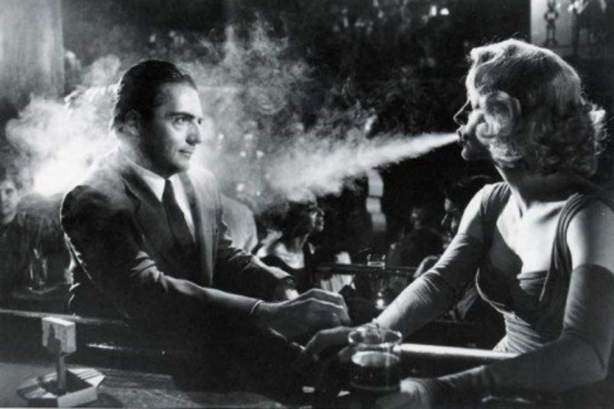 How many elements of Film Noir can you spot in this still from a long forgotten movie? Hint: don't stop at a dozen.