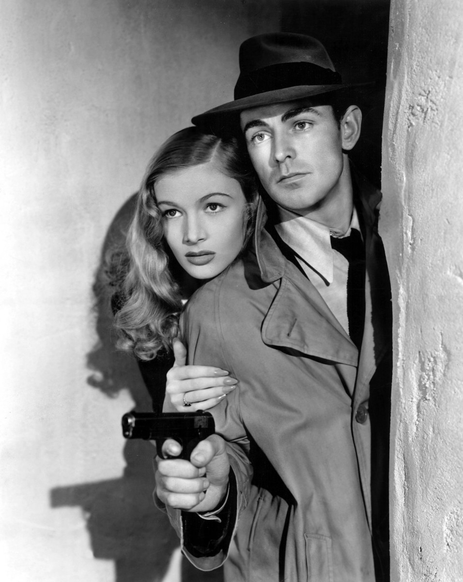 "One of the first, true movies oozing with film noir was ""This Gun For Hire."" Unique because the lead (Alan Ladd with Veronica Lake) is a hitman, having gunned down a woman witness and a policeman. Yet you're STILL rooting for him!"