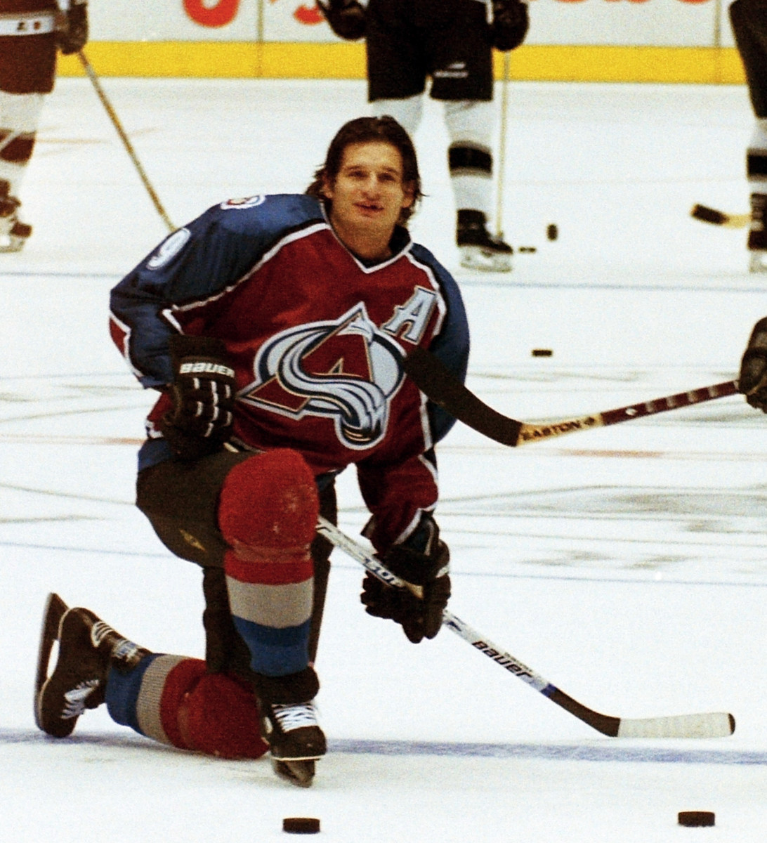 Stanley Cup champion Mike Ricci as a member of the Colorado Avalanche