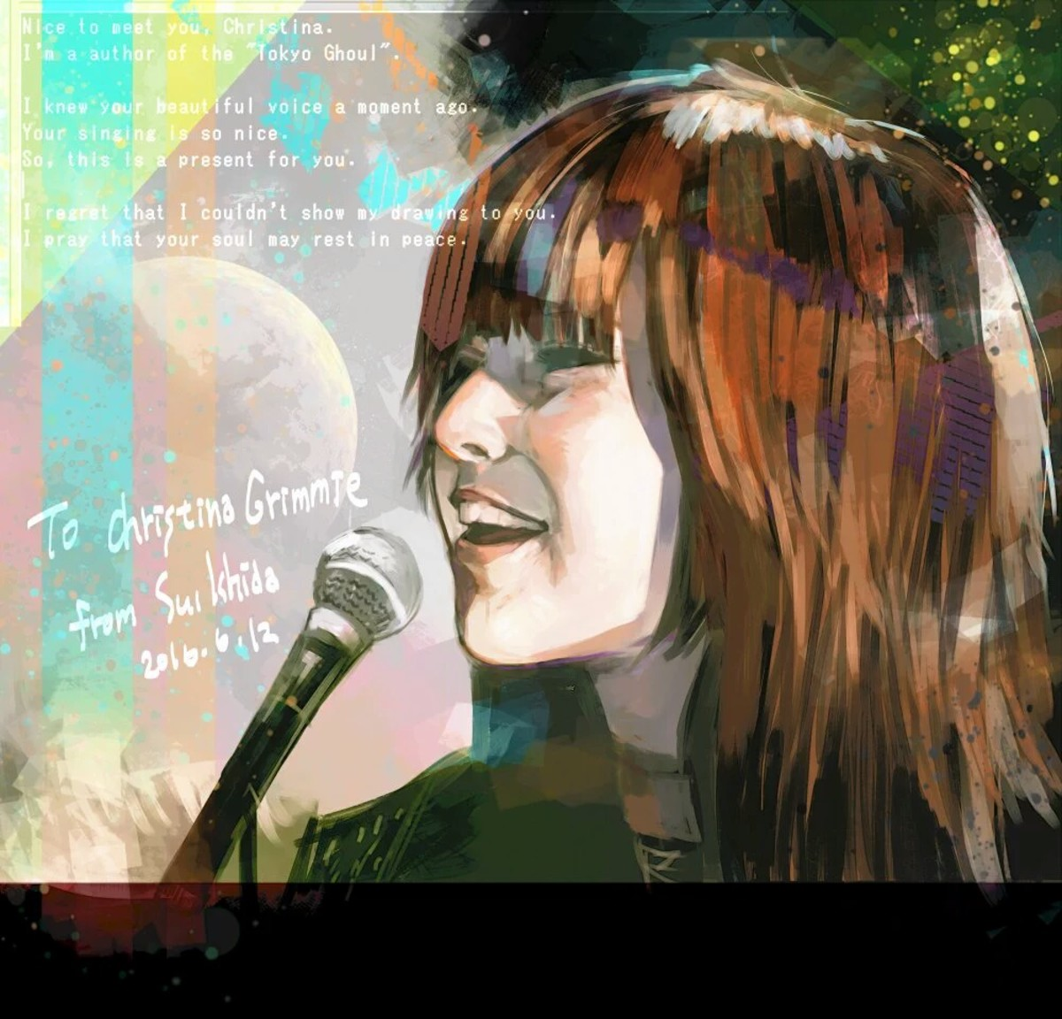 Ishida's tribute to Christina Grimmie.
