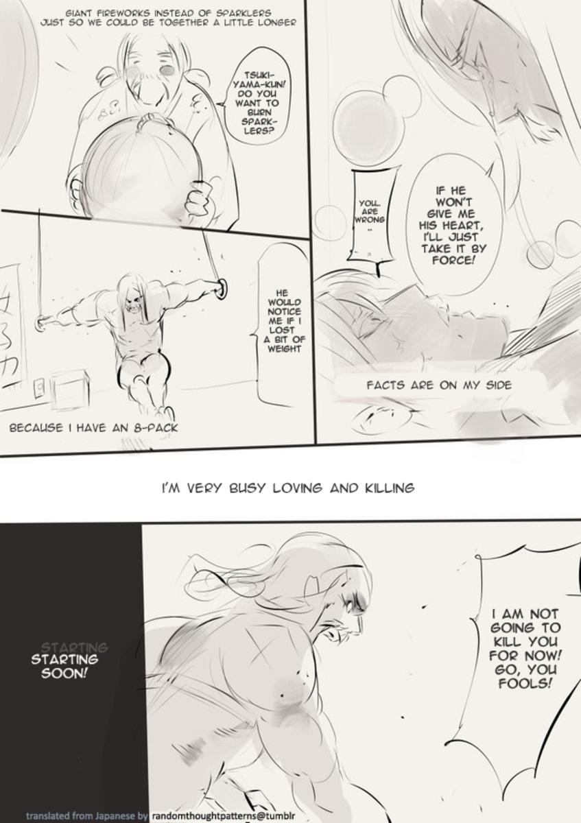 Ishida's joke manga about Kaneko and Sachiko [Page 4].