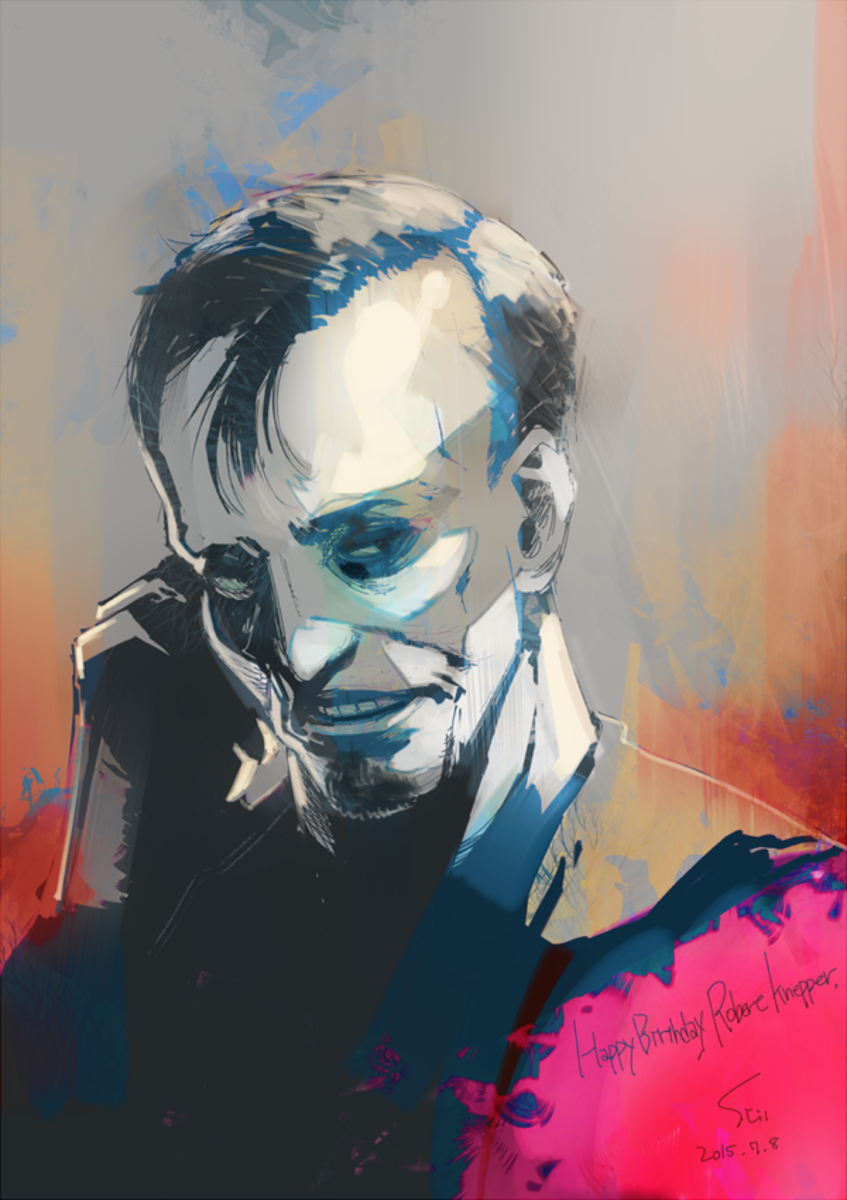 Ishida's drawing of Robert Knepper.