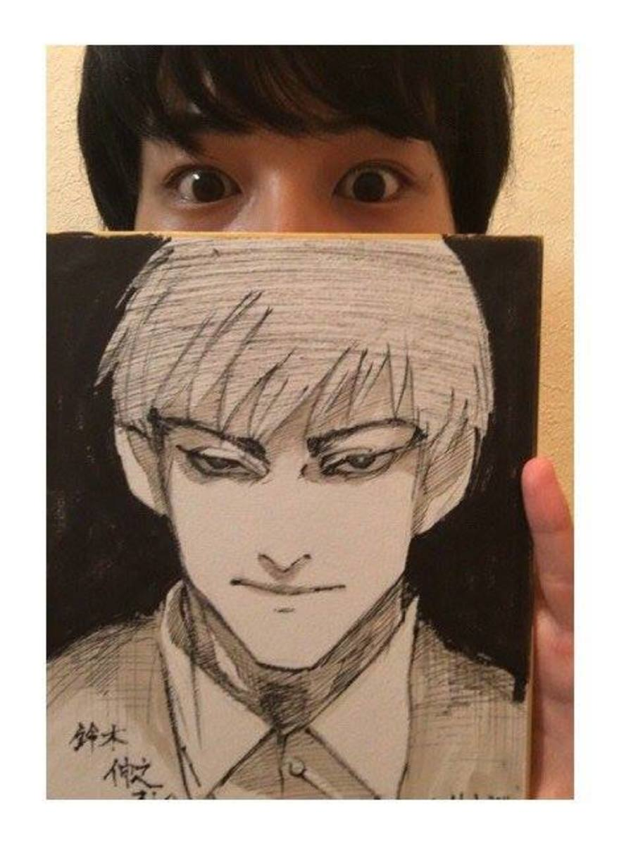 Ishida's illustration for Amon's voice actor.