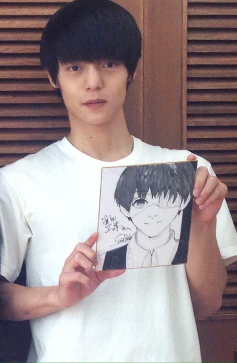 Ishida's illustration for Kaneki's voice actor.
