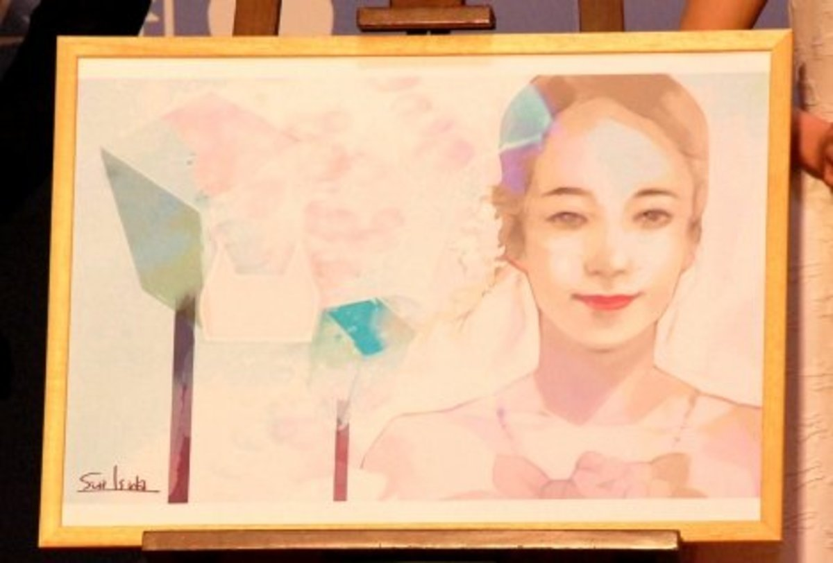 "Ishida's illustration for the movie ""The bride of Rip Van Winkle""."