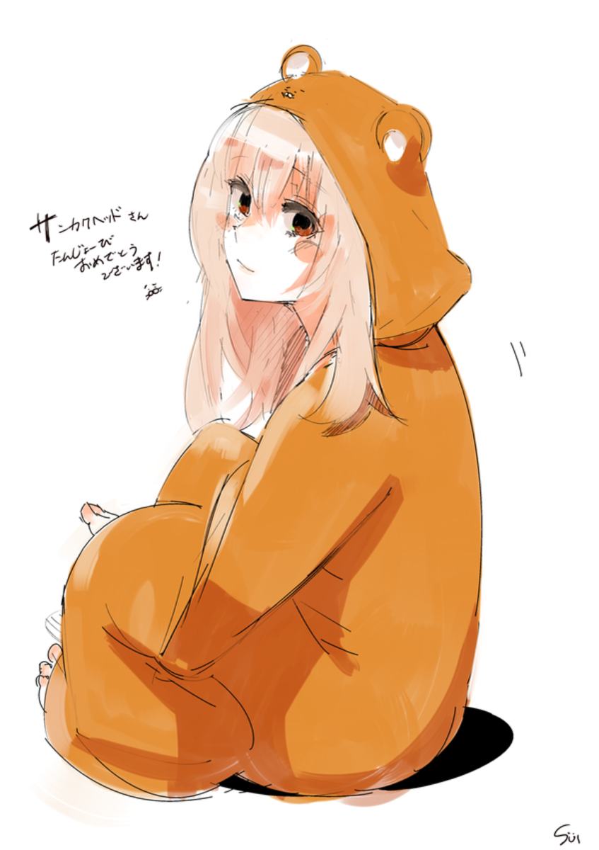 Ishida's illustration of Doma Umaru from Himouto! Umaru-chan.