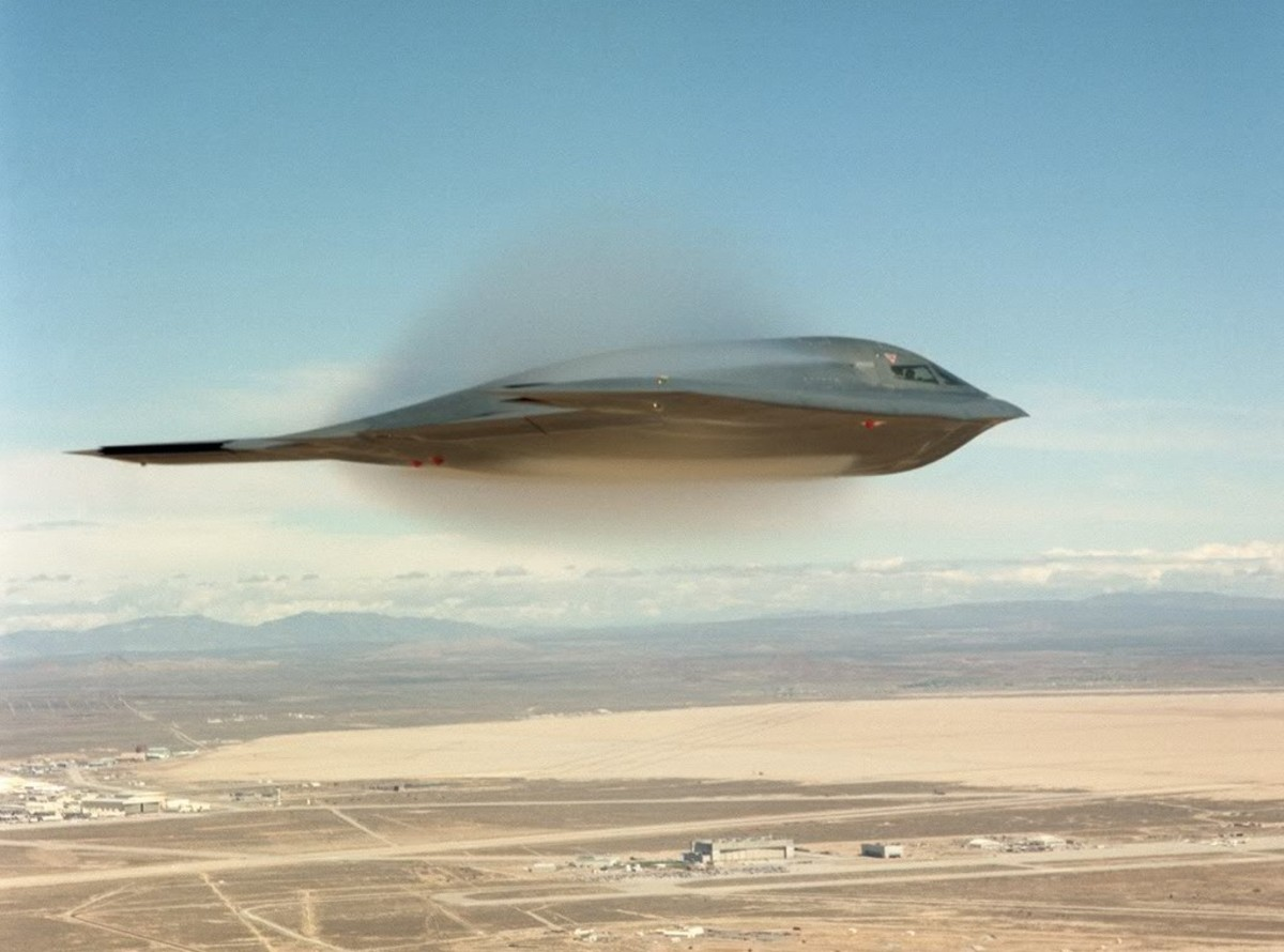 The B2 Bomber as it breaks the sound barrier