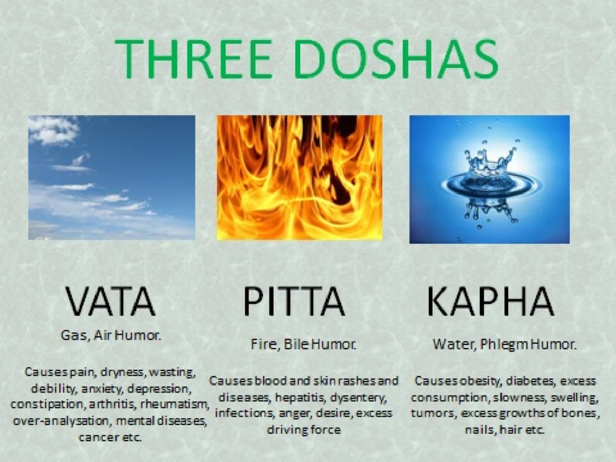 Ayurveda three doshas (substances)