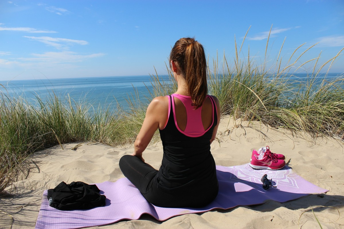 Meditation is one of the best ways to bust that stress and really get it out of your body! You don't have to meditate while at the beach but make sure you do it regularly for best results.