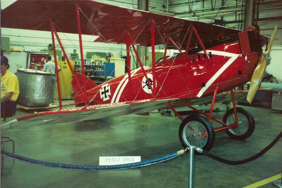 A Pfalz D XII at the Paul E. Garber facility, circa 1998.