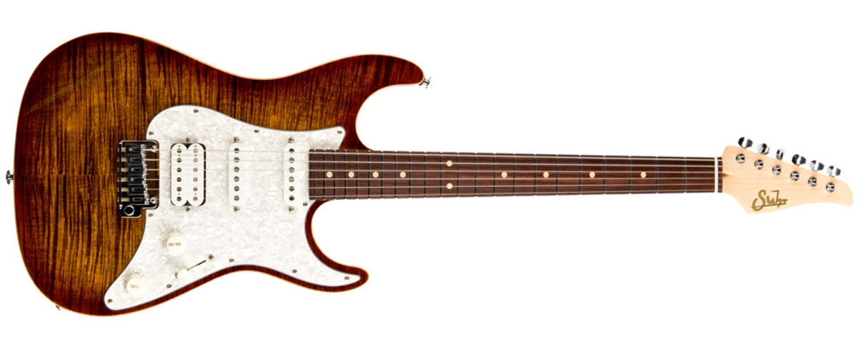 Flame Maple Top, Basswood Body, Indian Rosewood Fingerboard, Maple Neck