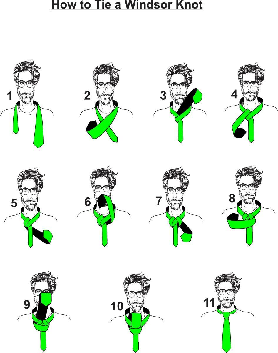 Windsor Knot Instructions