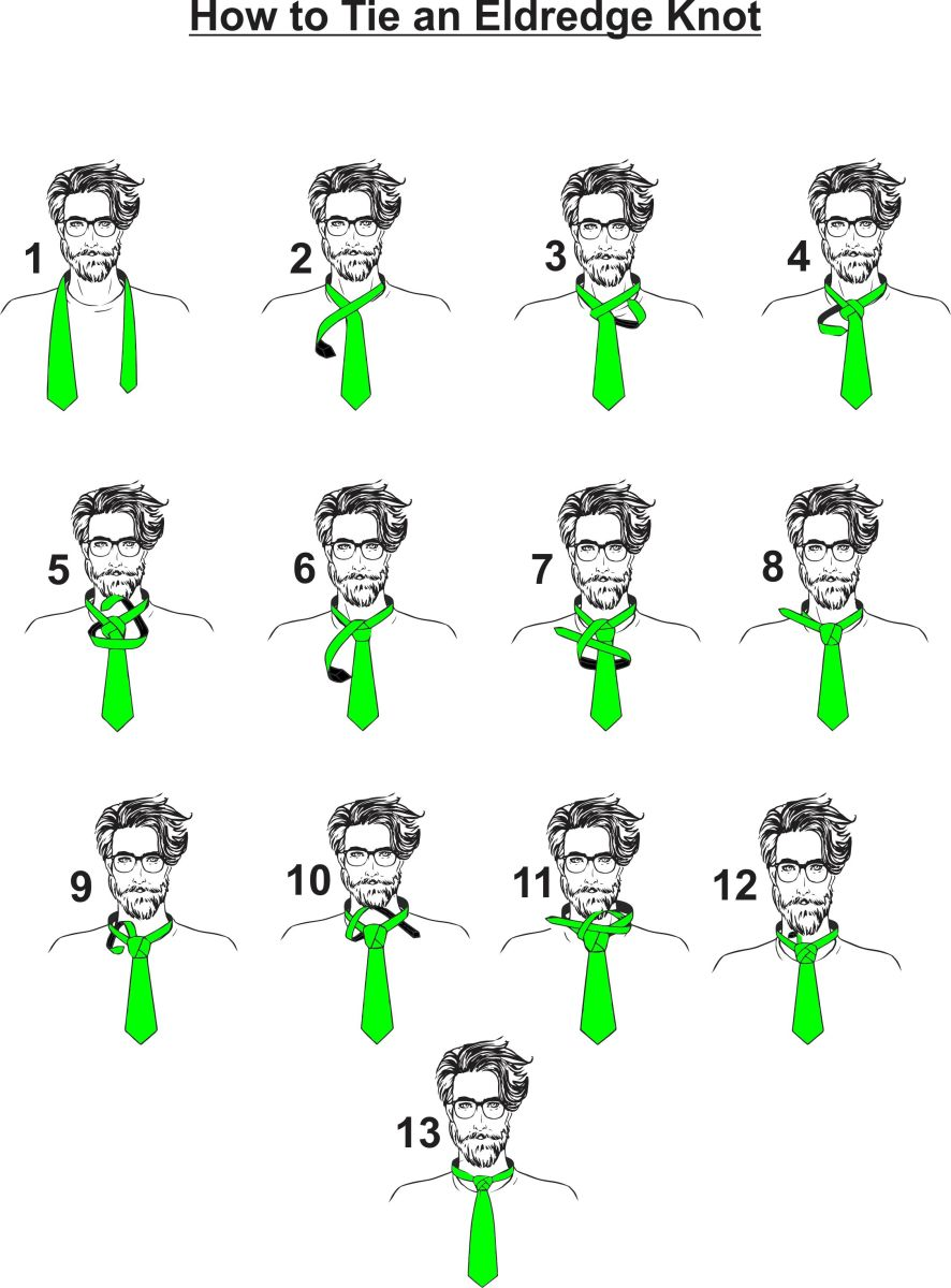 How to tie a tie learning about the 5 whatknots hubpages how to tie an eldredge knot ccuart Image collections