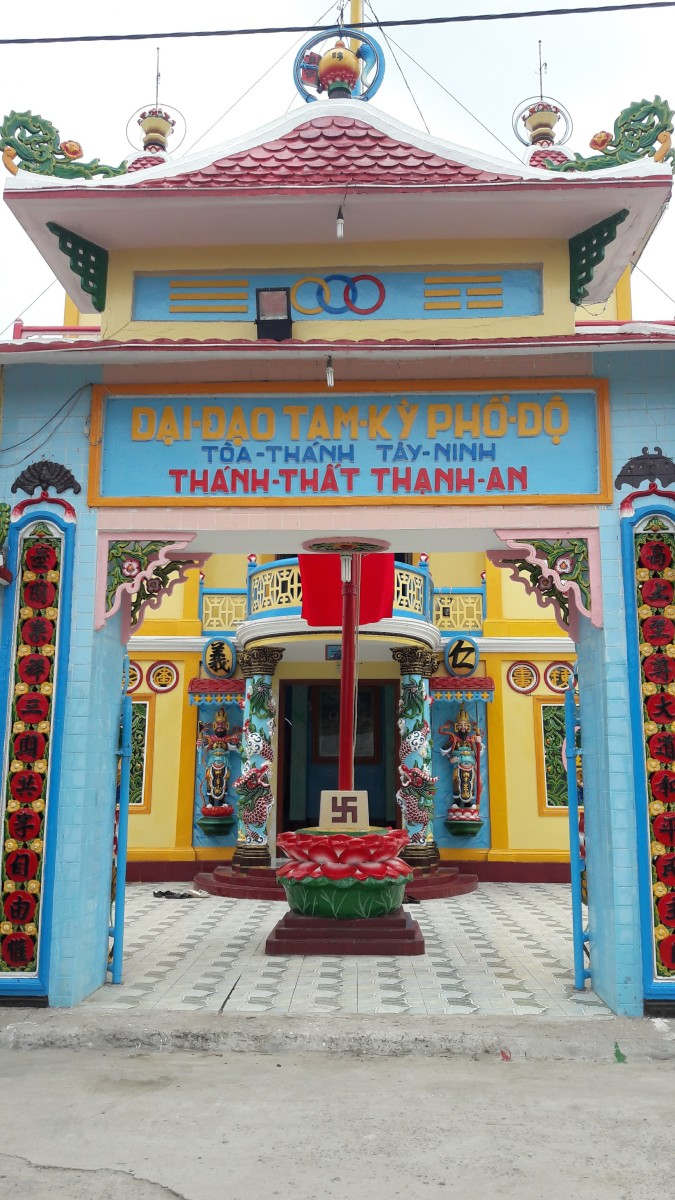 A colorful Caodai Temple