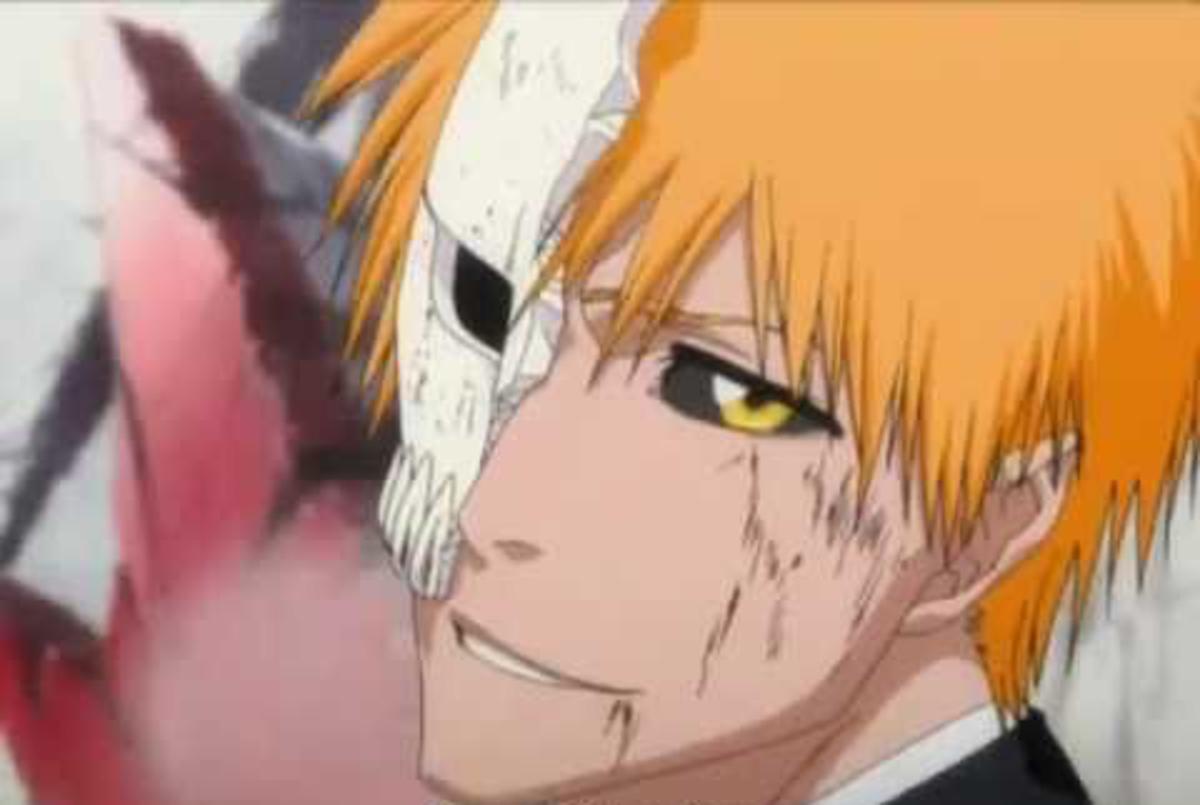 Ichigo smirking during fight against Grimmjow