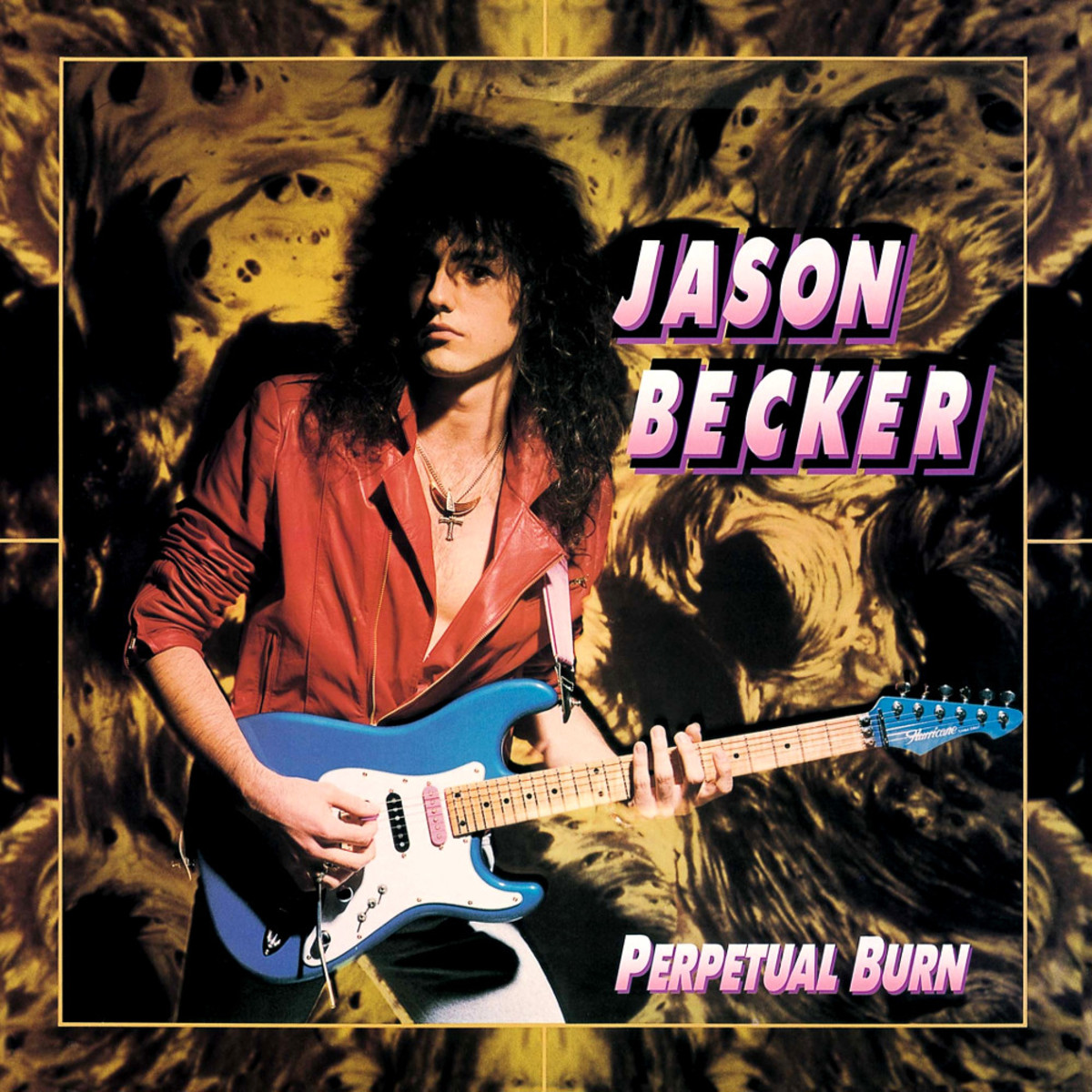 On the cover for Perpetual Burn is guitarist Jason Becker. He would have his career cut short by ALS or Lou Gehrig's Disease but when he could play fast, he was one of the most exciting guitar players in the world.