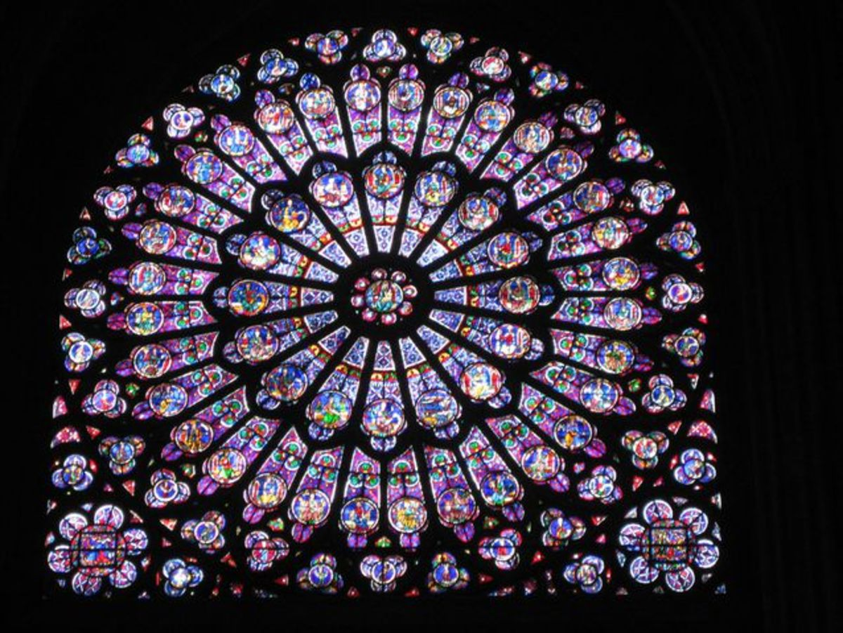 South Rose Window of Notre Dame Cathedral in Paris